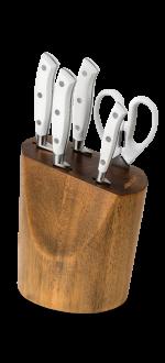 Kitchen Knife Set Riviera Blanc