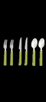 Green cutlery set