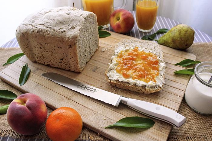 Receta de pan de espelta y miel con pâte fermentée